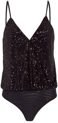 Jonathan Simkhai Sequined Wrap Bodysuit
