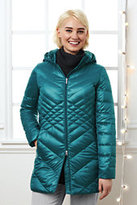 Classic Women's Plus Size Lightweight Down Packable Parka-Gemstone Teal