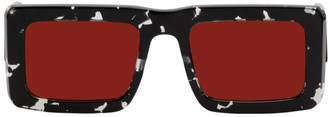 Marcelo Burlon County of Milan Black and Red Logo Templo Sunglasses