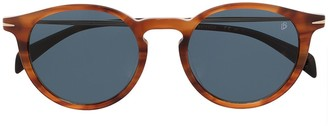 David Beckham Tortoiseshell Round Frame Sunglasses