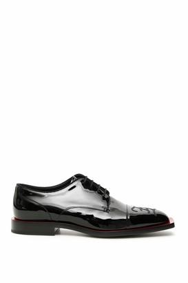 Fendi FF KARLIGRAPHY LACE-UPS 9 Black Leather