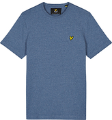 Lyle & Scott Three Colour Mouline Crew Neck T-shirt, Blue Steel