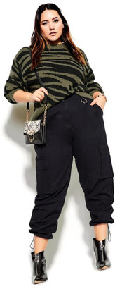 City Chic Cargo Attitude Pant - black