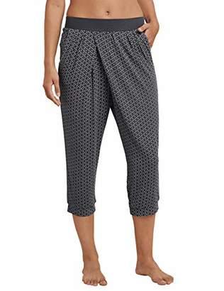Schiesser Women's Mix & Relax Jerseyhose 3/4 Lang Pyjama Bottoms,36 (Size: )