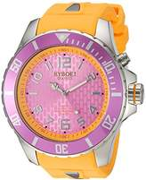KYBOE! 'Power' Quartz Stainless Steel and Silicone Casual Watch, Color:Yellow (Model: KY.55-024.15)