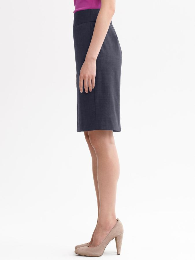 Banana Republic Navy lightweight wool pencil skirt