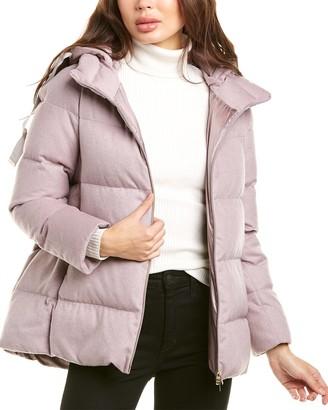 Herno Medium Down Silk, Cashmere & Wool-Blend Jacket