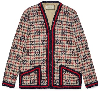 Gucci GG check tweed jacket
