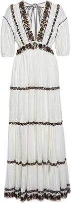 Ulla Johnson Alma Tiered Peasant Cotton Maxi Dress