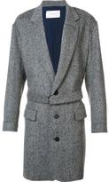 Julien David belted coat - men - Nylon/Cashmere/Wool - L