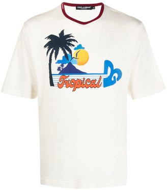 Dolce & Gabbana Tropical print short-sleeve T-shirt
