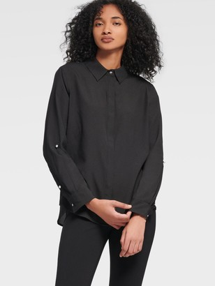 DKNY Button-up Shirt With Roll-tab Sleeve