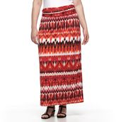 Plus Size AB Studio Ikat Maxi Skirt
