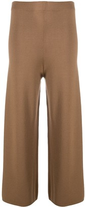 D-Exterior Wide-Leg Wool Trousers