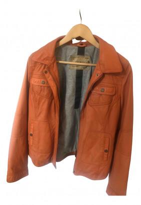 Oakwood Orange Leather Jackets