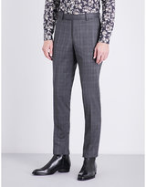 The Kooples Prince Of Wales Check Slim-fit Wool Trousers