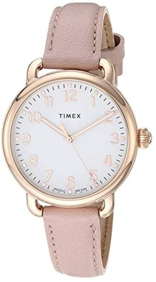 Timex 34 mm Standard (Gold/Silver/Tan) Watches