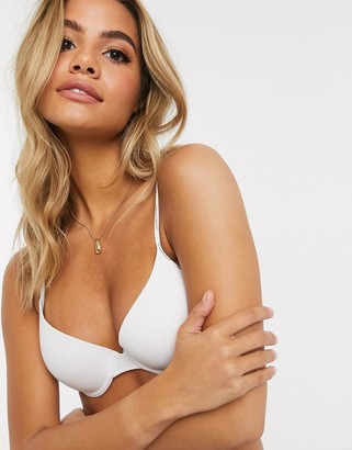 Women'secret organic cotton padded t-shirt bra in white