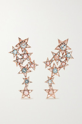 Selim Mouzannar Istanbul 18-karat Rose Gold Multi-stone Earrings - one size