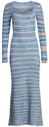 Jacquemus Perou Stripe Wool-Knit Maxi Dress