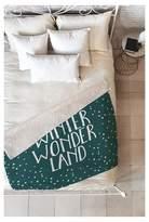 "Deny Designs Green Novelty Zoe Wodarz Winter Wonder Sherpa Throw Blanket (50""X60"