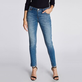 Morgan Faded Stretch Slim Jeans