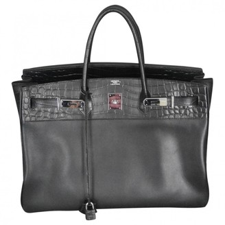 Hermes Birkin 40 Black Crocodile Handbags