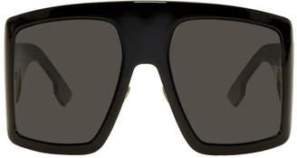 Christian Dior Black Oversized DiorSoLight1 Sunglasses