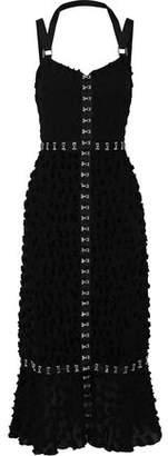 Proenza Schouler Fil Coupe Cotton And Silk-blend Midi Dress