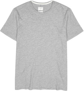 Rag & Bone Grey Melange Fine-knit Cotton T-shirt