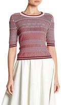 Topshop Mini Dash Stitch Crop Sweater