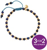 Lola Rose Portobello Gold Tone Semi Precious Aqua Blue Tigers Eye Friendship Bracelet