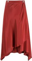 Romeo Gigli Pre Owned 1990s asymmetric handkerchief skirt