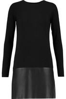 Bailey 44 Sedgwick Faux Leather-Paneled Stretch-Jersey Dress