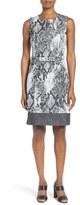 BOSS Women's Daneki Snake Jacquard Sheath Dress