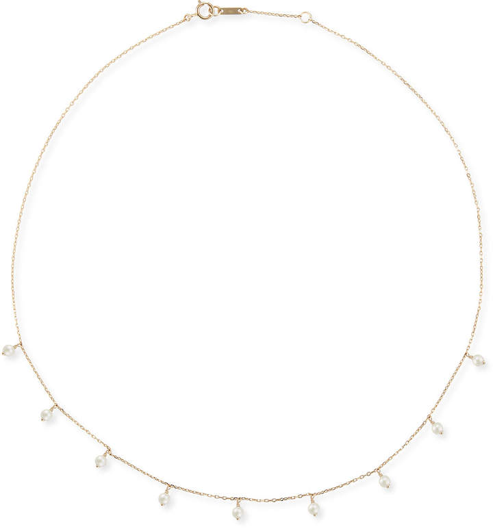 Mizuki 14k Gold Short Pearl Shaker Necklace
