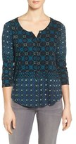 Lucky Brand Women's Mosaic Print Top