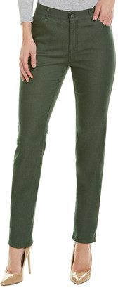 Lafayette 148 New York Thompson Bottle Green Straight Leg Jean