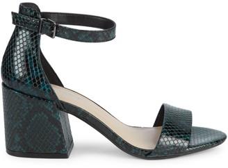 Kenneth Cole New York Hattie Snake-Print Block Heel Pumps