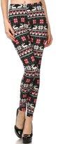 Always Leggings - Jolly Reindeer Printed Leggings - Superb Quality