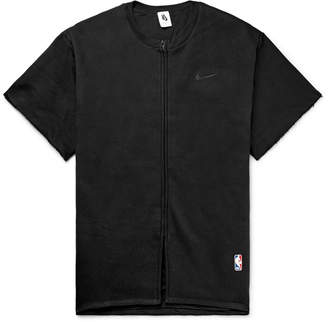 Nike Fear Of God Oversized Cotton-Blend Jersey Zip-Up T-Shirt