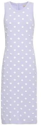MICHAEL Michael Kors Floral-appliqued Stretch-knit Dress