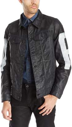 G Star Men's 3301 3D Denim Jacket with Painted Raw