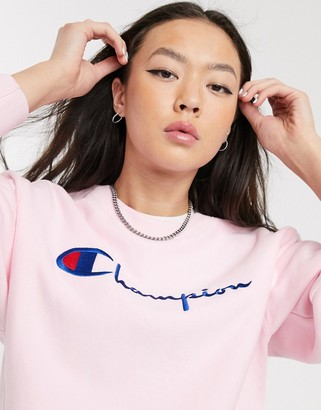 Champion reverse weave sweatshirt with embroidered logo