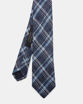 Ted Baker Checked linen and silkblend tie