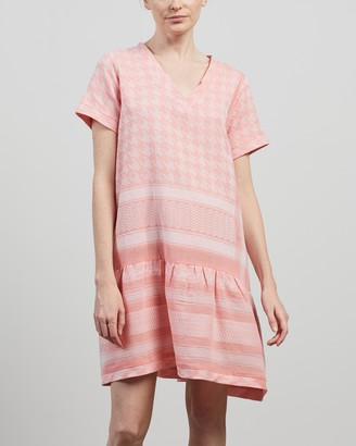 Cecilie Copenhagen Women's Pink Mini Dresses - Dress 2 V Short Sleeves - Size M at The Iconic