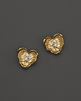 Michael Aram Orchid Studs with White Diamond Accents