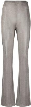 Thierry Mugler Metallic-Knit Flared Trousers