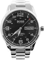 HUGO BOSS Black 1513327 Pilot Vintage Watch Silver