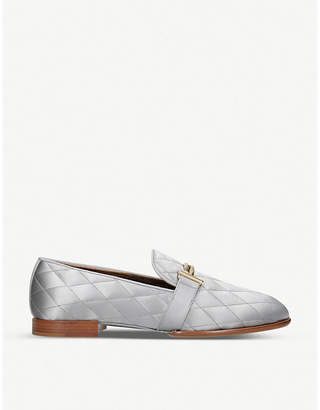 Tod's Tods Quilted metallic leather driving shoes